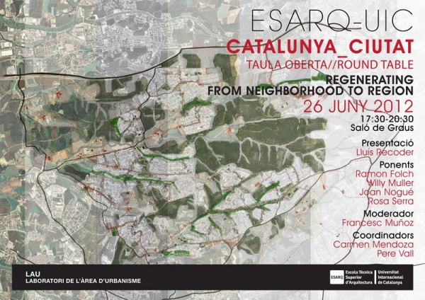 Catalunya-Ciutat: mesa redonda en ESARQ-UIC